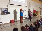 Jump Rope for Heart kickoff assembly.