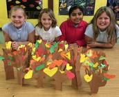 thankful trees in mrs. diemer's art classes
