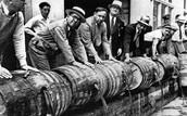 alcohol barrels