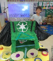 Our Garbage truck! I worked hard on this!