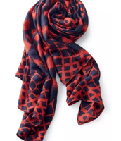 Blue and Red Ikat Scarf $32