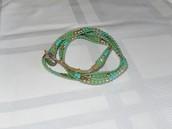 Wanderlust Triple Wrap Bracelet - Turquoise