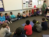 4B Morning Meeting- Thanks to Mrs. Haugen for helping the guest teacher!
