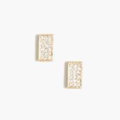 J. Crew Rave Rectangular Stud Earrings - Gold, $18