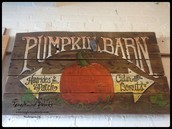 $195 - Pumpkin Barn Sign