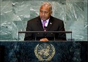 Fiji's leader