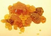 Raw processed Acacia gum