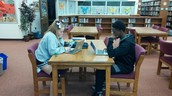 125 Students are Using the Library during PE!