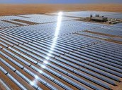 Solar power plants in Mojave desert in California