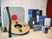 5.- Discos y cintas magnéticas.