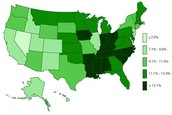 Prevalence in 2011 (Centers for Disease Control, 2014)