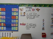 Learning targets posted