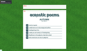 Autumn Acrostic Poems