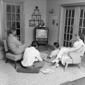 Canadian Family Watching T.V.