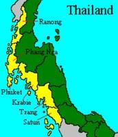 Provinces that were hit