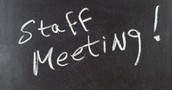 10.21 Staff Meeting