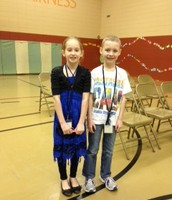 Hannah Strange, Spelling Bee Champ; Owen Lynch, Runner Up