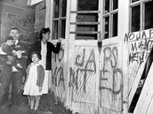 Japanese family comes home after internment to their vandalized house