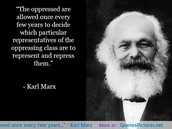 A quote from Karl Marx