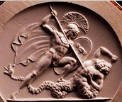 Ares killing Poseidon's son, Halirrhothios