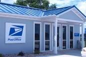 Fui el correo y eche´ una carta.