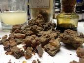 Chunks of dried Myrrh resin