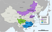 Locations of China's Rare Earth mines