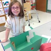 I made a recycling box!!