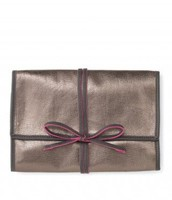 BRING IT JEWELRY ROLL in Metallic Pewter (exterior)