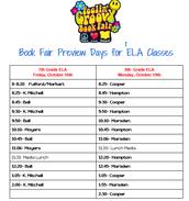 ELA Class Preview Times