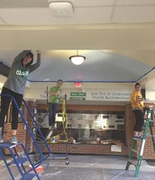 Kipling Staff Come In Over Spring Break to Spruce Up The School