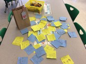 A picture of all of our kind compliments we wrote to our classmates!