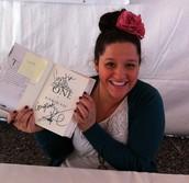 Kiera Cass signing Syntia's book!