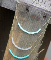 Beaded Accent Layer Necklaces