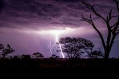 Thunder storm in Cape Town
