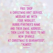 Contact me to shop, host, Join or If you need some advice on what to get who...Then I'd be more than happy to help!