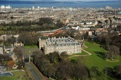 Holyrood Palace and Abbey in 2012.