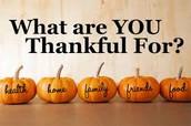 Thanksgiving Break - Nov. 21 - 25
