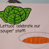 Sign for our staff lunch Thursday