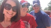 Ms. Anz, Ms. Allgood, and Coach Coronado caught a baseball game this week
