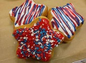 Fourth of July donut