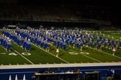 Blue Brigade Marching at Halftime
