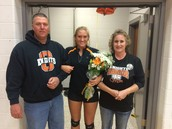 Girl's Volleyball Senior Night