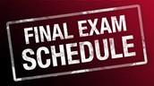 Final Exam Week Schedule