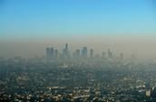 El contaminacio'n en Los Angeles, California