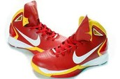 Red and Yellow basketball shoes