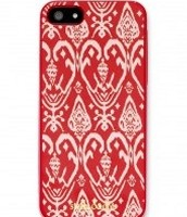 Signature iPhone 5 case, red ikat £10