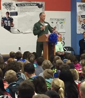 Mrs. Clark's husband speaking about being in war while serving in the Air Force.