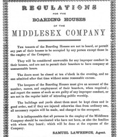 Lowell Mills Rules and Regulations