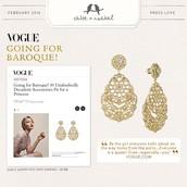 Sunlit Sahara Earrings Featured in Vogue